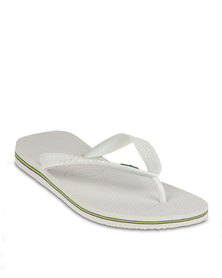 Havaianas Brazil Flip Flops White