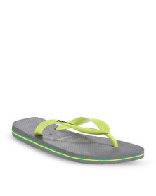 Havaianas Brazil Logo Men's Flip Flops Grey/Lemon Green