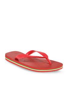 Havaianas Brazil Unisex Flip Flops Ruby Red