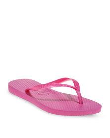 Havaianas Slim Flip Flops Pink