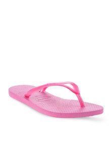 Havaianas Slim Flip Flops Magenta