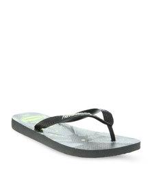 Havaianas 4Nite Flip Flops Black/Grey