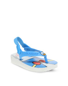 Havaianas Boys Disney Classic Flip Flops White And Blue