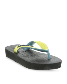 Havaianas Kids Top Mix Flip Flops Black
