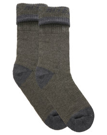 Hi-Tec New Hiking Socks Khaki Green
