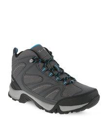 Hi-Tec Pioneer Waterproof Hiking Boots Grey