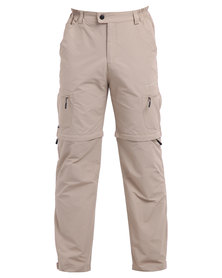Hi-Tec Amazon Zip Off Pants Brown