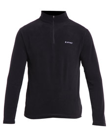 Hi-Tec Dakota Fleece 1/4 Zip Top Black