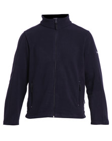 Hi-Tec Boulder Fleece Zip Thru Top Navy