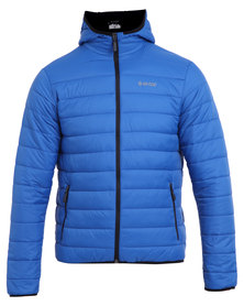 Hi-Tec Agnar Insulated Puffer Jacket Vivid Blue and Black