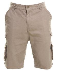 Hi-Tec Cotton Twill Cargo Shorts Brown