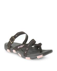 Hi-Tec Swerve Ladies Sandals Brown/Pink