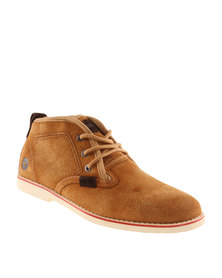 Hi-Tec Carrick Karoo Mid Suede Sneakers Tan Brown