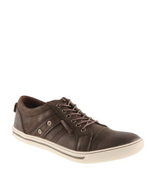 Hi-Tec Carrick Osprey Leather Sneakers Brown