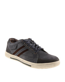 Hi-Tec Carrick Kite  Leather Sneakers Navy