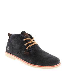 Hi-Tec Carrick Karoo Mid Suede Sneakers Black
