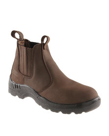 Hi-Tec Carrick Falcon Leather Casual Slip on Ankle Boot Brown