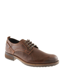 Hi-Tec Carrick Bradford Lo Leather Formal Lace up Shoe Brown