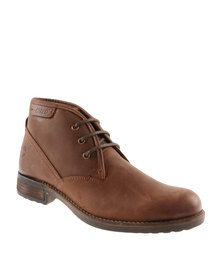Hi-Tec Carrick Bradford Hi Leather Formal Lace Up Shoe Brown