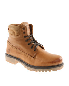 Hi-Tec Carrick Plantation Leather Casual Lace Up Boot Camel