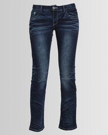 Hip Shop Bootcut Jeans Dark Blue