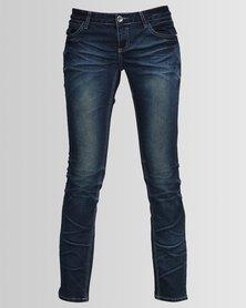 Hip Shop Skinny Jeans Dark Blue
