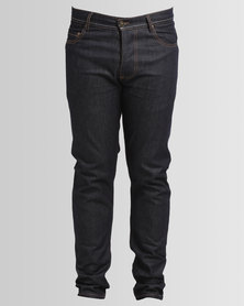 Holmes Bros Bonewashed Denim Jeans Blue