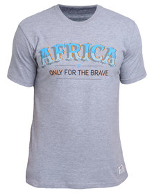 Holmes Bros Africa Brave T-Shirt Grey