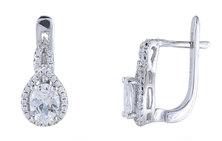 Homemark Infinity Prestige Jewel Collection Teardrop Silver Stud Earrings Silver