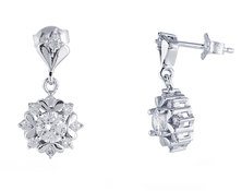 Homemark Infinity Prestige Jewel Collection Desert Rose Drop-Earrings Silver