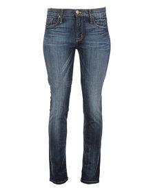 Hudson Gia Mid-Rise Skinny Jeans Blue