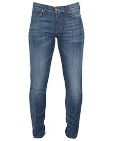 Hudson Nico Mid-Rise Crop Zip Jeans Cyprus Blue