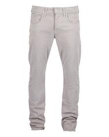 Hudson Byron Straight Leg Jeans Grey