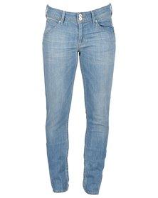 Hudson Collin Midrise Skinny Jeans Bali Blue