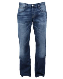 Hudson Clifton Straight Leg Jeans Blue