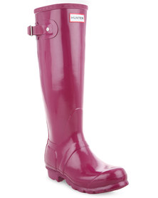 Hunter Original Tall Gloss Boots Violet