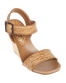Hush Puppies Florianopolis Wedges Camel Leather