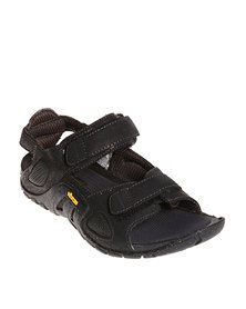 Hush Puppies Mag Outdoor Shoes Black Leather