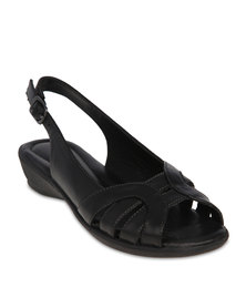 Hush Puppies Zeena Wedge Sandals Black