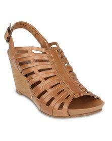 Hush Puppies Pretty Wedge Sandals Tan