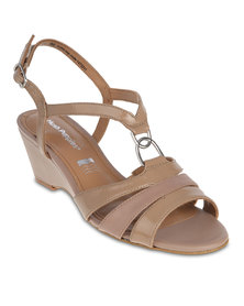 Hush Puppies Elise Wedge Sandals Brown