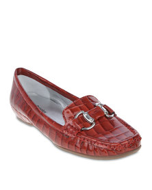 Hush Puppies Piper Flats Flame Red