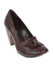 Hush Puppies Heather Heels Brown
