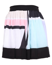 Ilan Graphic Print Frolic Skirt Multi