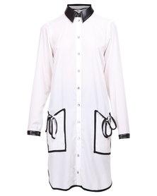 Ilan Shirt Dress with Pockets White