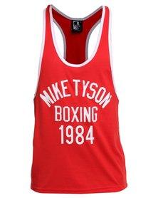 IMYG Gymwear Mike Tyson Boxing Singlet Vest Red