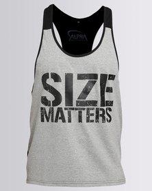 IMYG Gymwear Size Matters Vest Grey