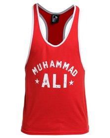 IMYG Gymwear Muhammad Ali Singlet Vest Red