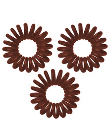 Invisibobble Hair Ring Set Of 3 Chocolate Brown