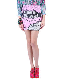Iron Fist Grave Dancer Mini Skirt Pink